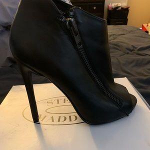 Black stilettos with open peep toe